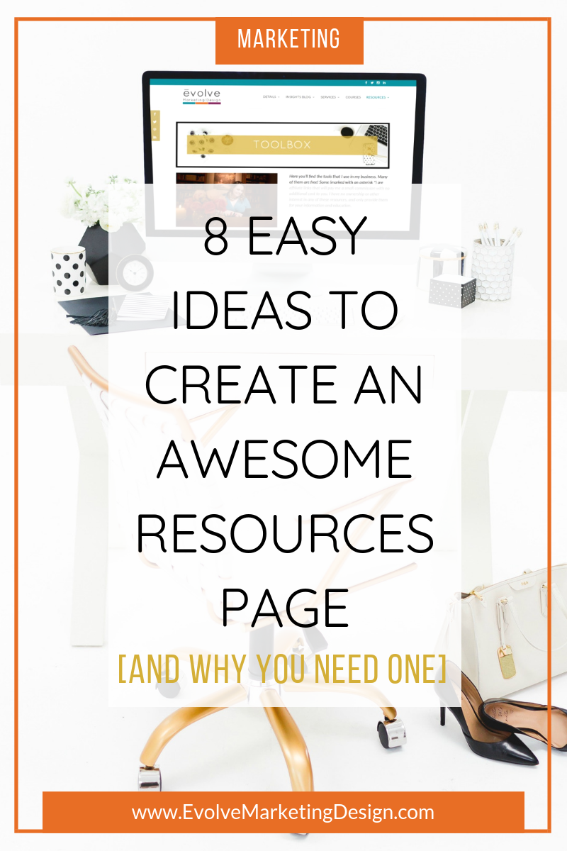 A resources page can add tremendous value to your clients, and your website ranking. Here are 8 easy things you can use to create an awesome resources page for your business website.