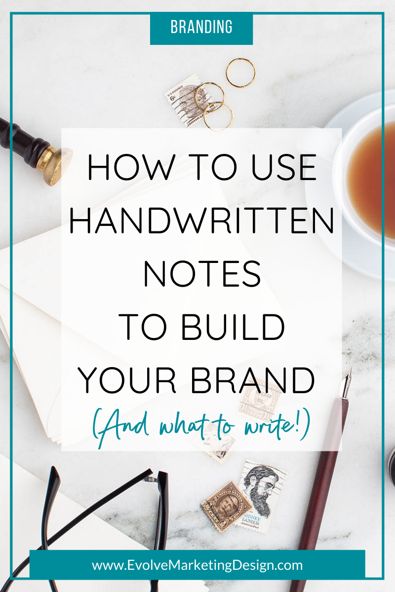 An image displays an antique fountain pen, stamps and notecards with the post title.
